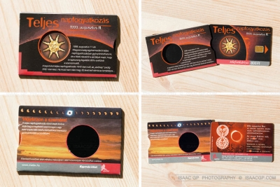 Commemorative Total Solar Eclipse 1999 card phone from Hungary