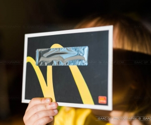 Mcdonalds did a commemorative Total Solar Eclipse 1999 postcard with a solar filter