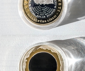 Commemorative coin - Total Solar Eclipse of 2006, Turkey // Isaac GP © www.isaacgp.com