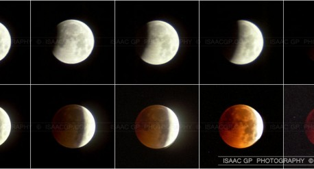 Total Lunar Eclipse of 1996 Sept 27 from Spain - My first lunar eclipse photographs